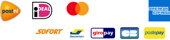 Logo's: iDEAL - Mastercard - VISA - AMEX and more